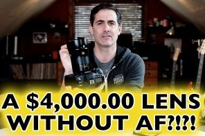 What the what?!? A $4,000 lens without AutoFocus?!?